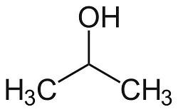 ساختار شیمیایی ایزوپروپانول