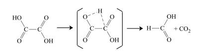 تجزیه حرارتی اسید اگزالیک