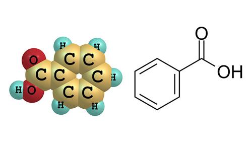 ساختار بنزوئیک اسید