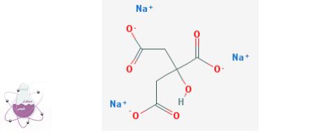 ساختار شیمیایی تری سدیم سیترات