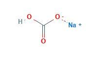 ساختار مولکولی سدیم بی کربنات