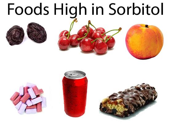 محصولات غذایی حاوی سوربیتول