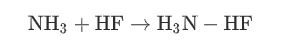 واکنش اسید هیدروفلوریک با آمونیاک
