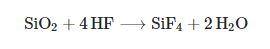 واکنش اسید هیدروفلوریک با شیشه