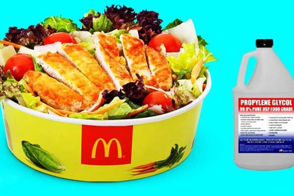 کاربرد پروپلین گلیکول در مواد غذایی