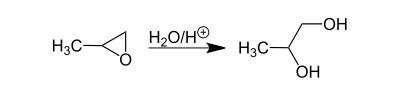 واکنش تولید پروپیلن گلیکول