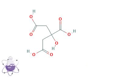 ساختار مولکولی اسید سیتریک
