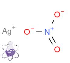 ساختار مولکولی نیترات نقره