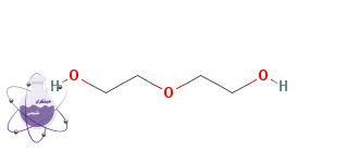 ساختار شیمیایی دی اتیلن گلیکول