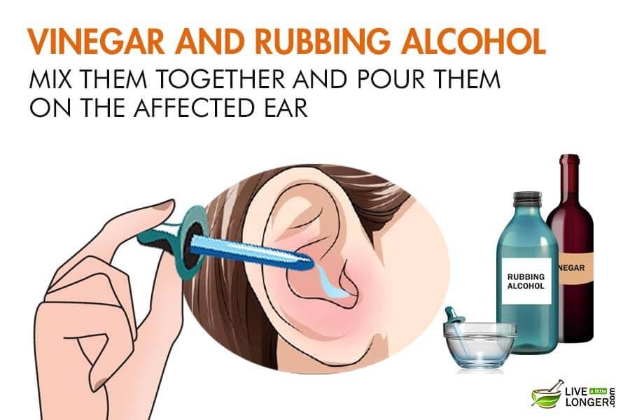 پاک کردن گوش با رابینگ الکل