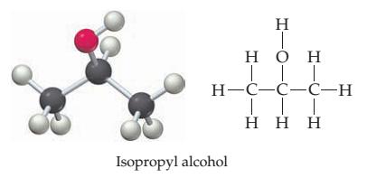ساختار ایزوپروپیل الکل