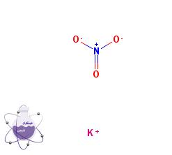 ساختار شیمیایی پتاسیم نیترات