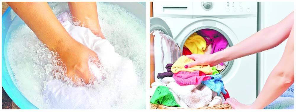 تفاوت پودر لباسشویی و دستی
