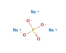 ساختار مولکولی تری سدیم فسفات