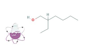 ساختار شیمیایی دو اتیل هگزانول