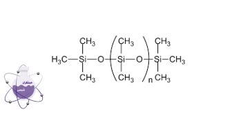 ساختار مولکولی پلی دی متیل سیلوکسان