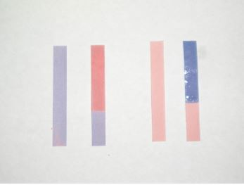 تغییر رنگ شناساگر کاغذ لیتموس