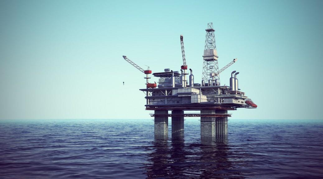 حفاری چاه نفت در دریا
