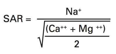 فرمول نسبت جذب سدیم