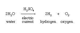 الکترولیز آب برای تولید اکسیژن
