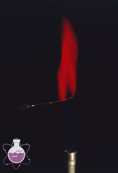 رنگ شعله استرانسیوم