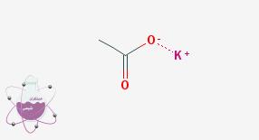 ساختار شیمیایی پتاسیم استات