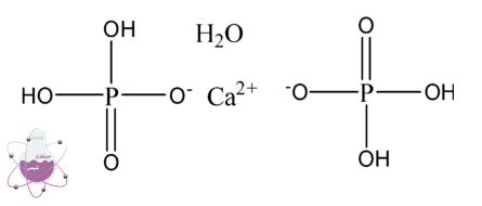ساختار شیمیایی مونو کلسیم فسفات