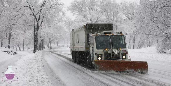 کاربرد نمک ها در از بین بردن یخ زدگی جاده ها