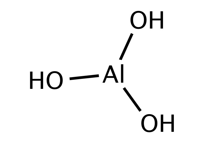 ساختار آلومینیوم هیدروکسید