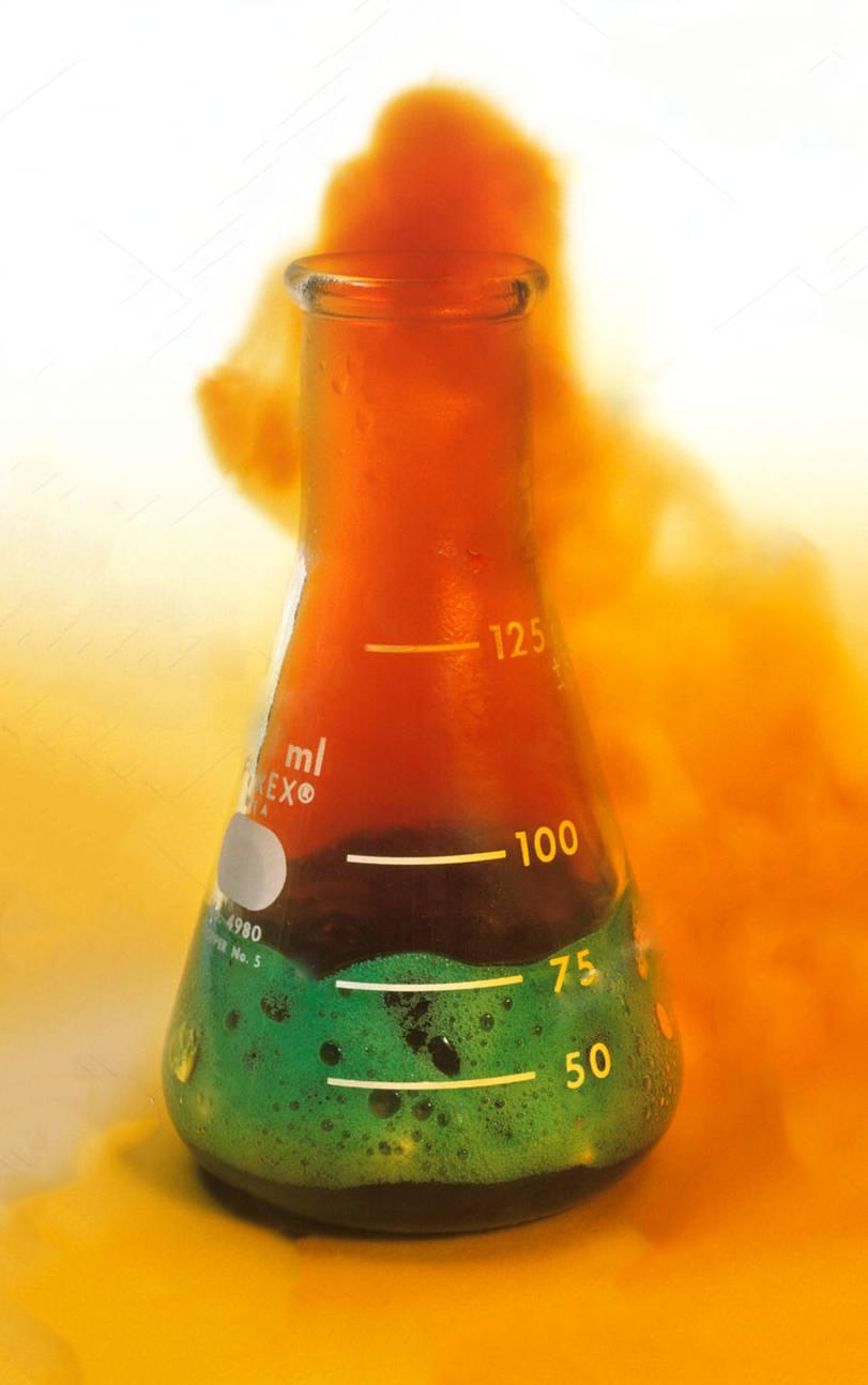 واکنش فلز مس و اسید نیتریک