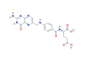 ساختار شیمیایی اسید فولیک