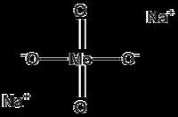 ساختار سدیم مولیبدات