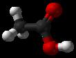 ساختار شیمیایی استیک اسید